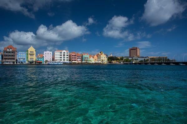 Curacao colorful houses photo