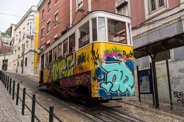 Lisbon tram photo