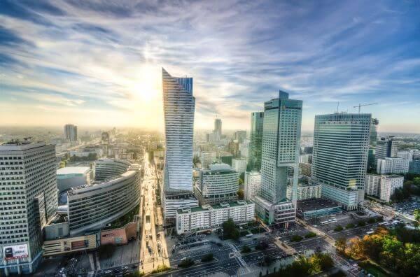 Downtown Warsaw photo