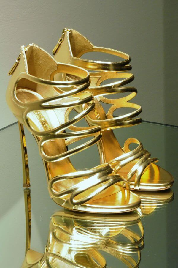 Golden heels photo