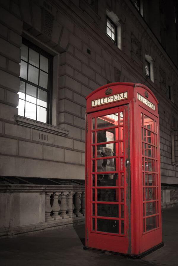 Classic telephone booth photo