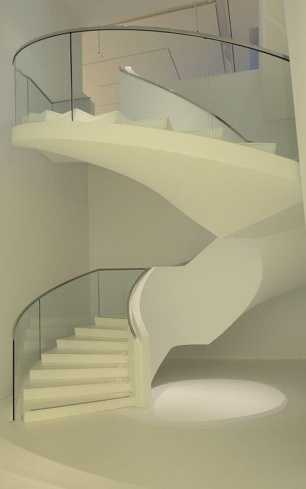 White staircase photo