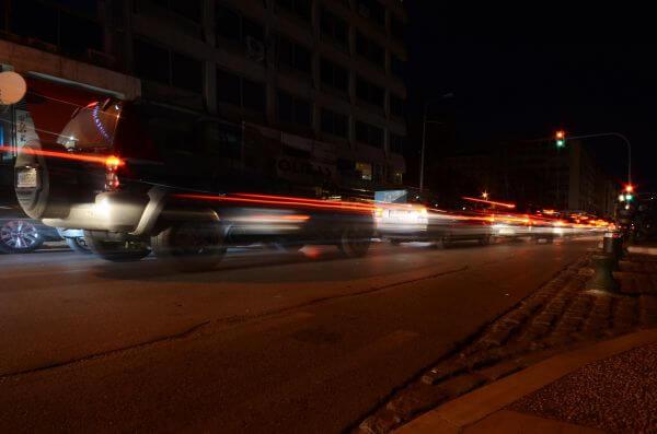 Cars at night photo