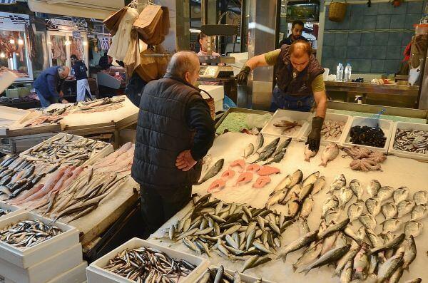 Greek fish shop photo