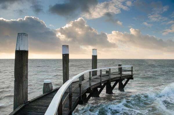 Pier in Texel photo