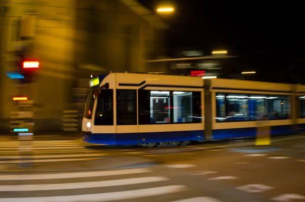 Tram in Amsterdam photo