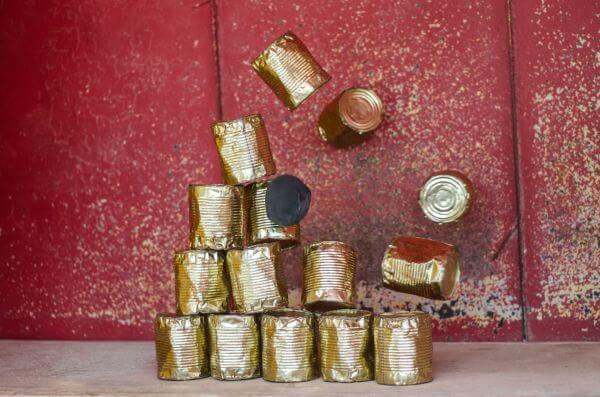 Tin can toss photo