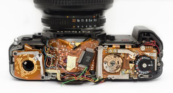 Camera inside photo