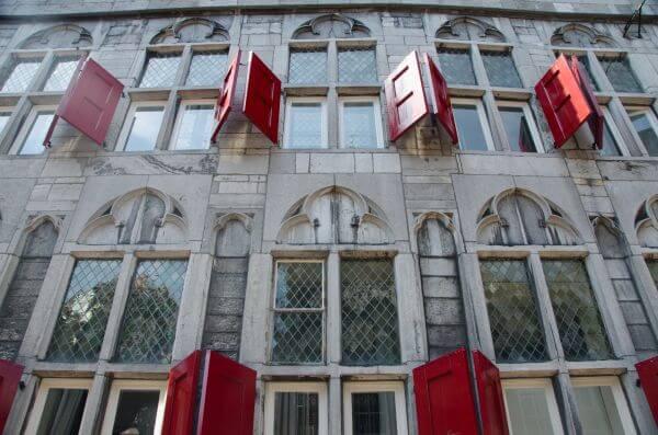 Old windows in Utrecht photo