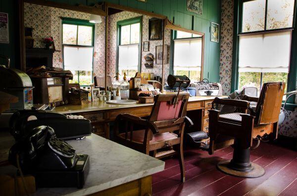 Old barber shop photo