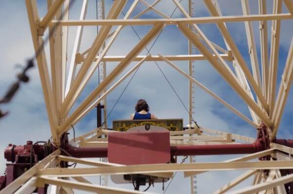 On the ferris wheel photo
