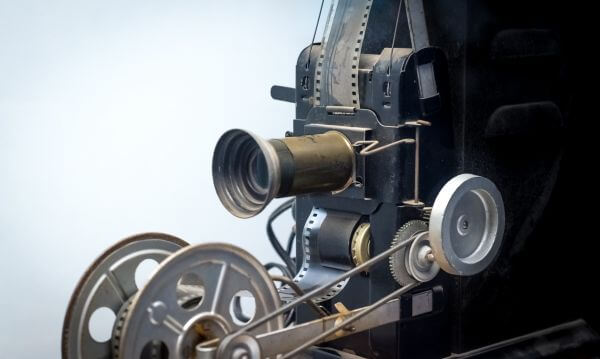 Vintage film projector photo