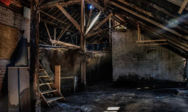 Ghost in the barn photo