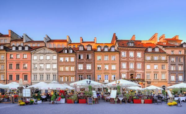 Old town of Warsaw photo