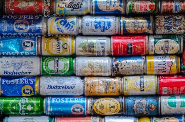 Cans from the sea photo