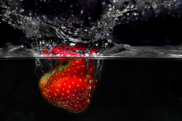 Strawberry splash photo