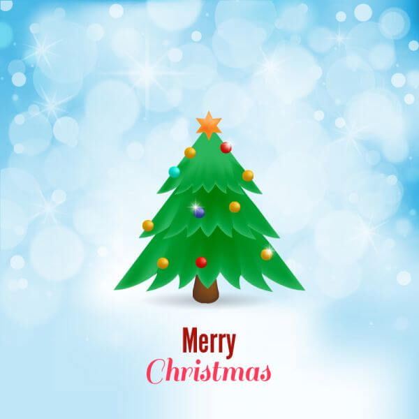 Christmas vector illustration with Christmas tree vector