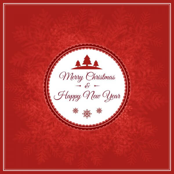Christmas vector illustration with badge vector