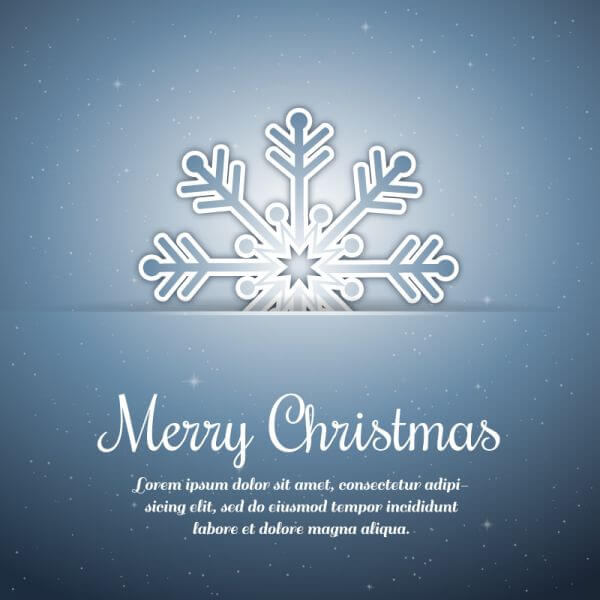Christmas background with typography and snow flake vector