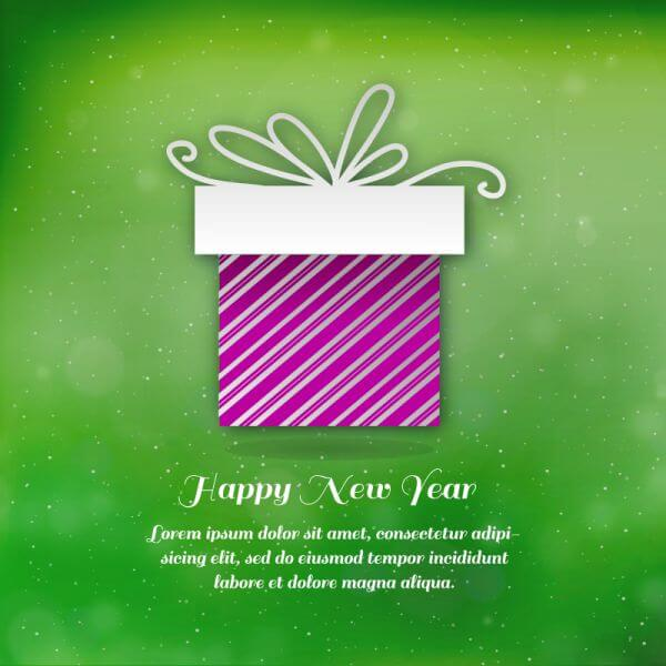 Christmas background with typography and gift vector