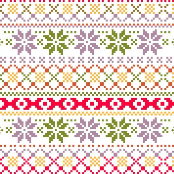 Christmas pattern with christmas  vector