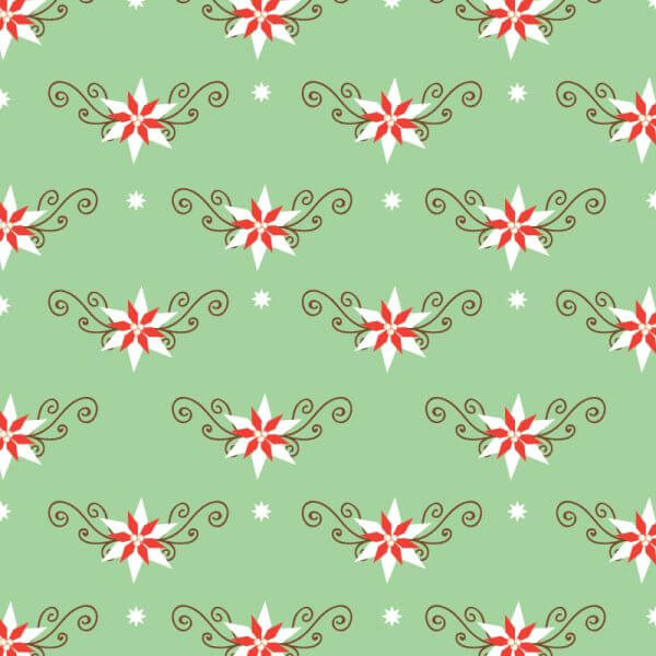 Christmas pattern with christmas decorations vector
