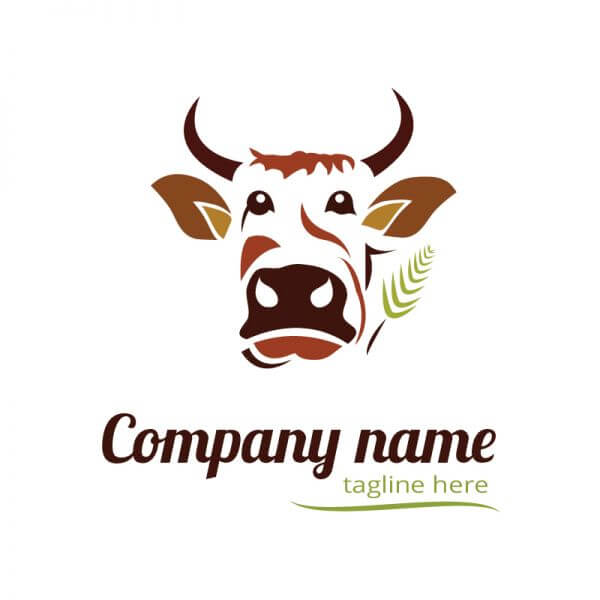 Cow logo design vector