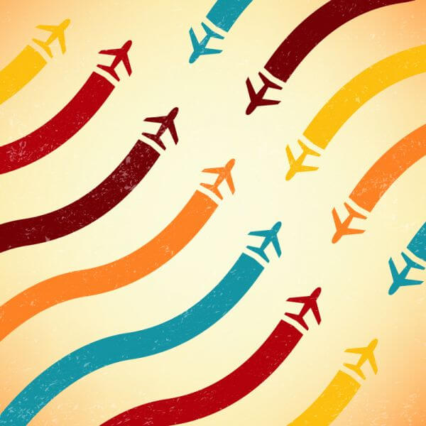 Abstract airplane illustration vector