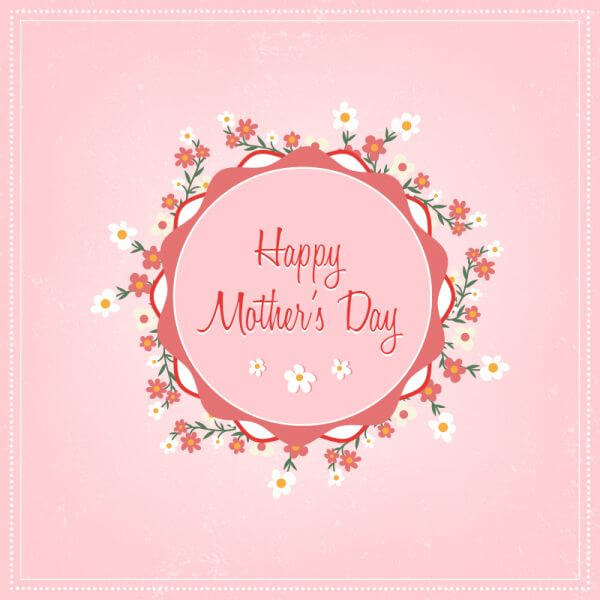 Mother's day floral illustration vector