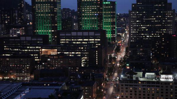 Night light roads video