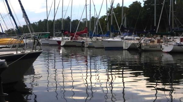 Sailboats at rest video