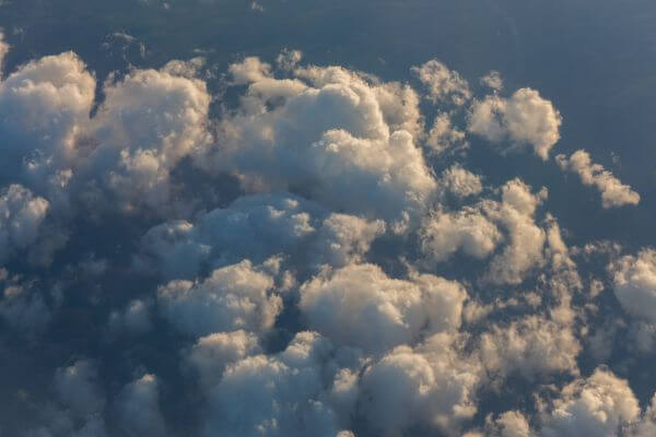 Clouds on the sky seen from above photo