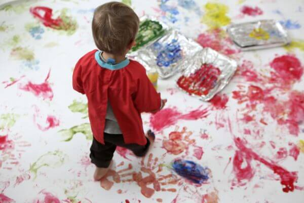 Kids Foot-Hand Painting photo