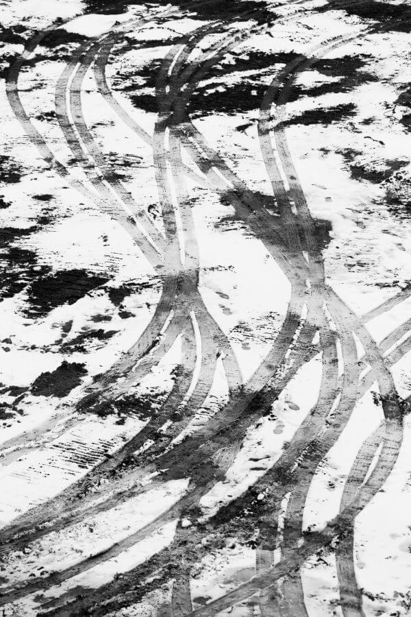 Traces in the snow photo