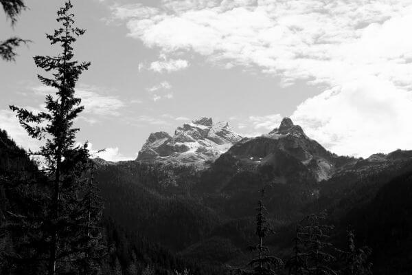 Black & White Mountains photo