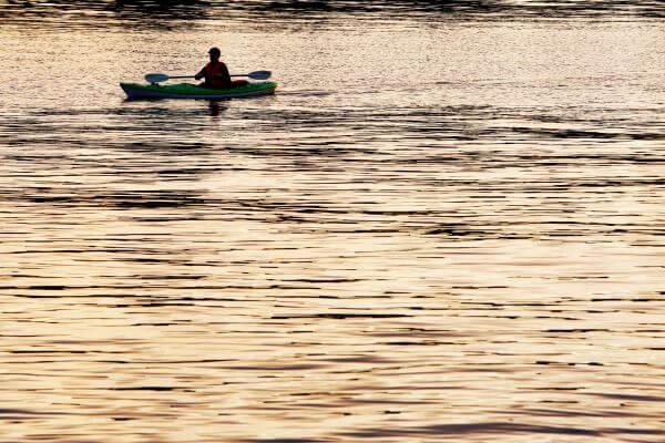 Kayak On Golden River photo