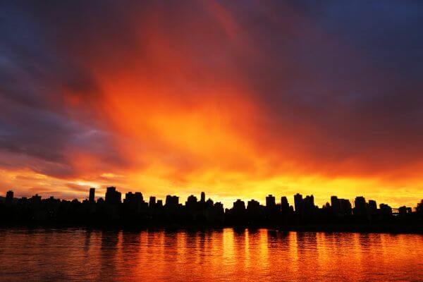 Amazing Sunset On The City photo