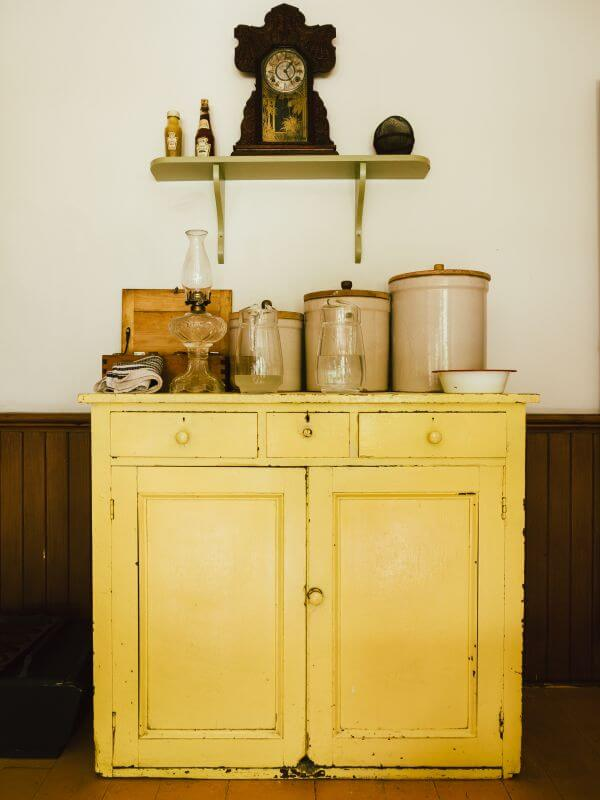 Vintage Yellow Buffet photo