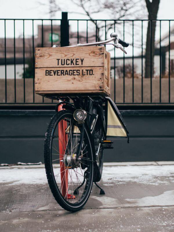 Parked bike photo