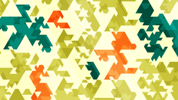 Spiky Abstract Triangles vector