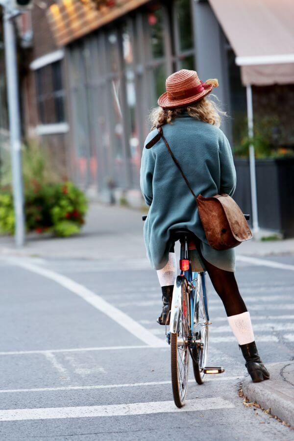 Woman Cyclist photo