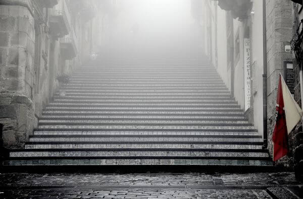 Stairs In The Mist photo