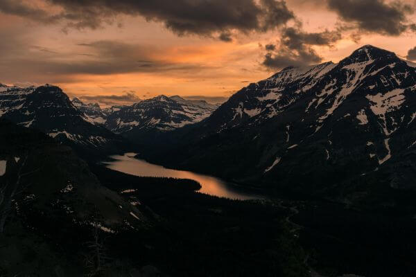 Sunset Over The Mountains photo