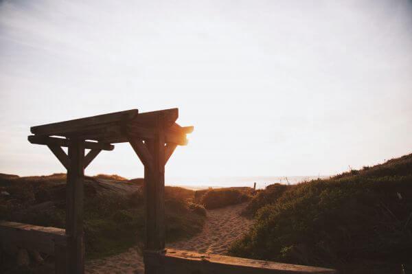 Sand path photo