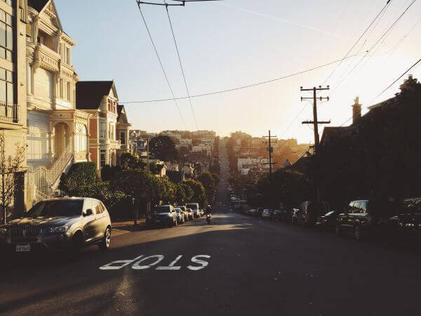 Hilly street photo
