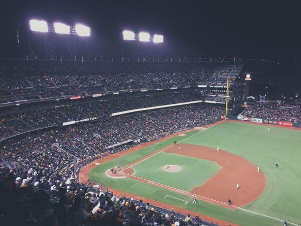 Baseball's night photo