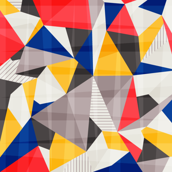 Colorful Abstract Polygons vector