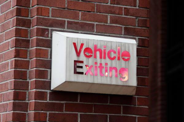 Vehicle exiting photo