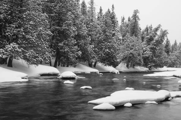Snow river photo