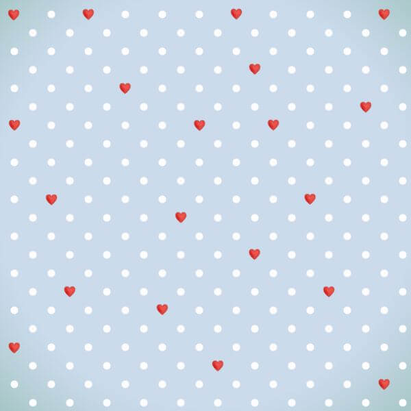 Love pattern with red hearts  vector